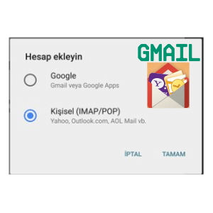 gmail hesap ekleme