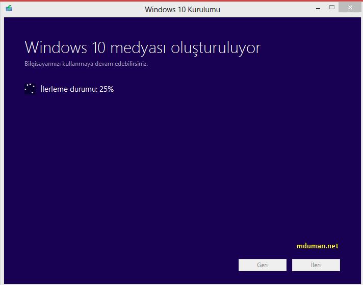 Windows Medyası Oluşturma