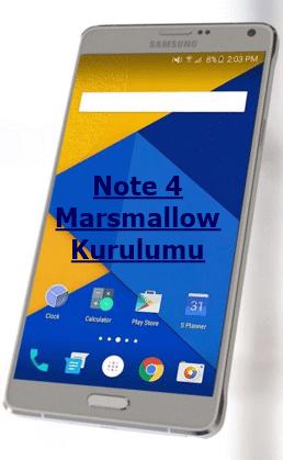 Yeni Note 4 Marshmallow 6.0.1 Rom Kurulumu Anlatımı